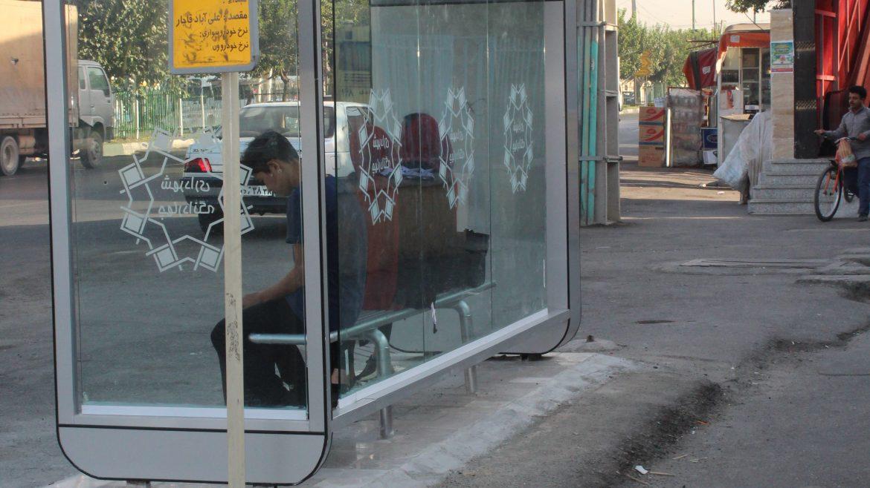 ایستگاه اتوبوس تابلو ها و علائم ترافیکی و راهنمائی