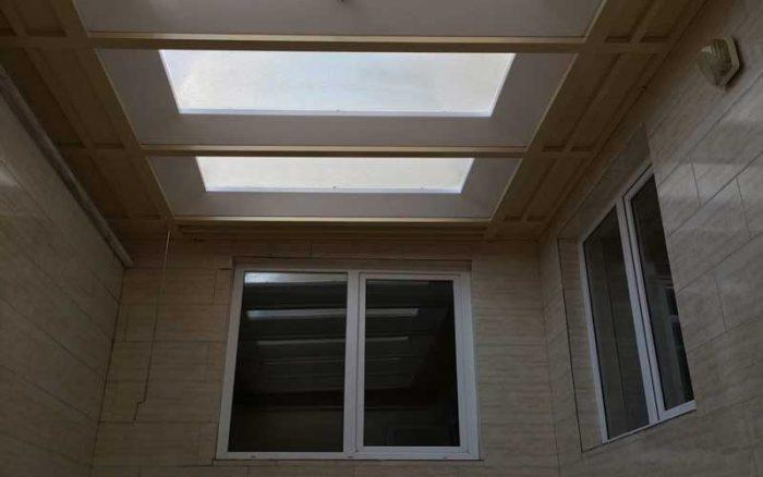 گزینه های پوشش سقف کاذب حیاط خلوت