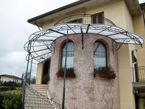 سایبان درب ورودی ساختمان