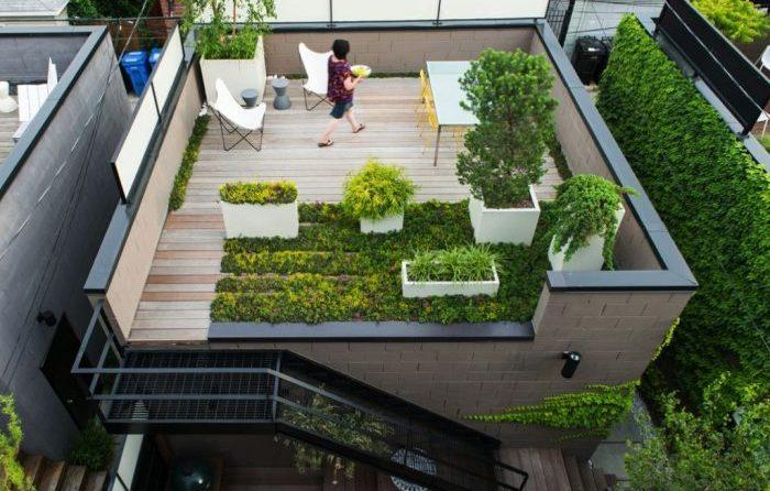 سایبان روف گاردن انتخابی هوشمند برای خلق باغ در پشت بام خانه