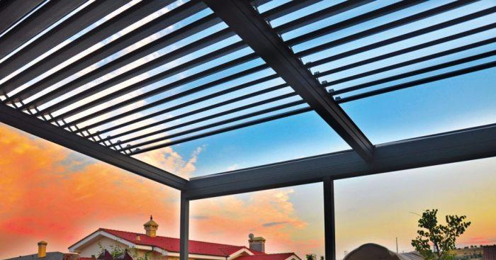 سقف متحرک آلومینیومی از انواع سقف اتوماتیک متحرک