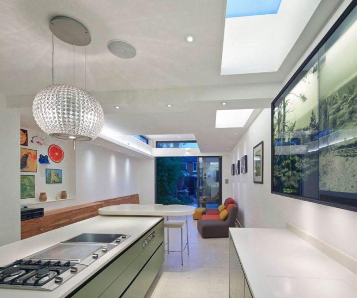روشنایی منزل با استفاده از نورگیر سقفی